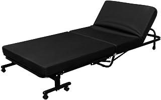 アイリスオーヤマ ベッド 折りたたみベッド シングル 収納 高反発 14段階リクライニング ブラック OTB-KR