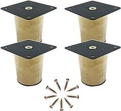 4X Meubelpoten Metal,Tafelpoten,Tafelpoten voor Werkbank Kast Sofa Lade TV-Tafel,Gouden (3cm)