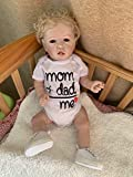 iCradle Reborn Baby Dolls - Muñecas de bebé con diseño realista de doble cara (22 pulgadas)