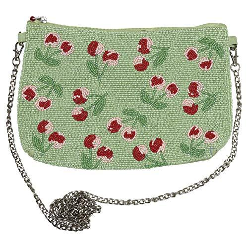GreenGate EMBHANWCHB3902 Cherry Berry Handtasche Pale Green 27 cm (1 Sück)