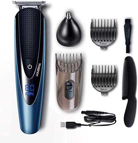 Solimpia Haarschneidemaschine Herren Haarschneider Bartschneider Cordless Body Hair Trimmer Schnurrbartschneider für Männer Grooming Kit Warterproof USB Wiederaufladbar