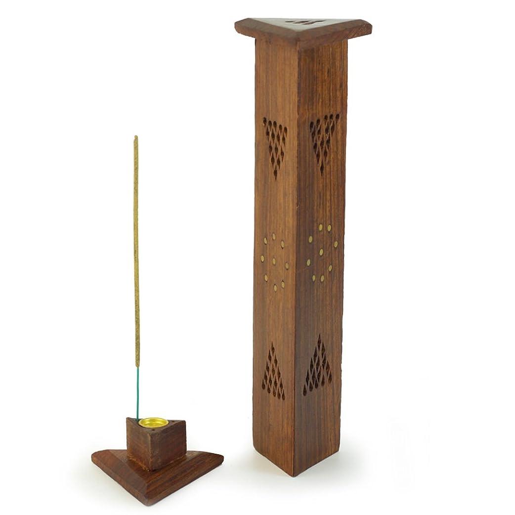 植物のマニアック湿った香炉?–?木製三角形タワー