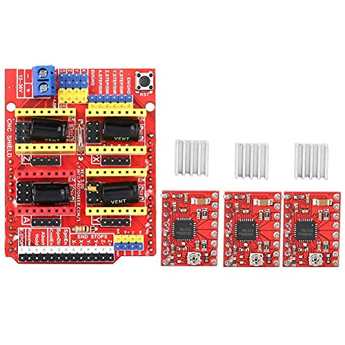 CNC 3D Printer V3 Engraver Expansion Board with 4X A4988 Driver Module and 4 x Heatsink