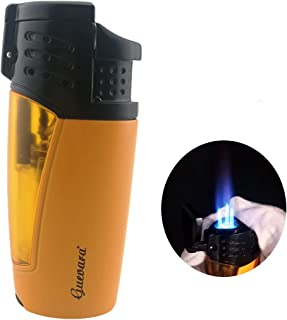 Torch Lighters 3 Jet Strong Flame Butane Refillbale Windproof High Quality Lighter with Punch [Gas Not Include]