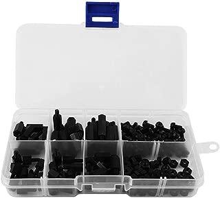 Zerone 180PCS M3 Nylon Black Hex Male Female Standoff/Spacers/Screws/Nuts Assorted Kit