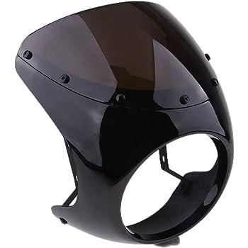 Moto Plastique Phare Noir Housse Phare Avant Visi/ère Capot de Phare de Moto pour Davidson Sportster Dyna Glide FX XL