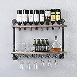 Rustic Wall Mounted Wine Rack – WGX Design For You