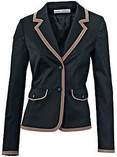 88d97a6d4d9 Blazer blazer court de ASHLEY BROOKE en noir   Taupe