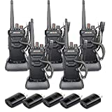 Retevis RT48 Waterproof Walkie Talkie Long Range,Rechargeable Two Way Radios for Adults,Emergency Alarm Handsfree 2 Way Radios with Earpiece(5 Pack)