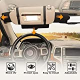 JoyTutus Car Sun Visor Sunshade Extender, Adjustable Car Sun Visor Extender Protects from Anti-Glare, UV Rays Blocker Window Sun Visor Windshield Sunshade Extender for Car SUV
