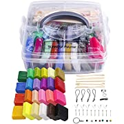 Polymer Clay Set - 24 Colors Oven Bake Polymer Clay DIY Air Dry Clay Soft Polymer Clay Set with Modeling Tools,Modeling Clay Toy for Kids/Best Gifts for Kids (Multicolor)