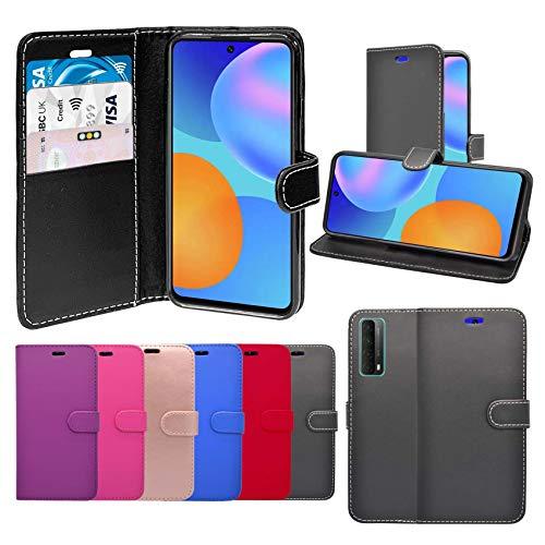 Funda para Huawei P-Smart 2021 Cartera Flip PU Cuero Soporte Ranura Tarjeta Funda Compatible Con Huawei P-Smart 2021 Cover