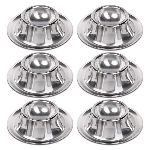 Schramm® 6 Stück Edelstahl Eierbecher Eierhalter poliert stapelbar Eier Becher Egg Cup Eierständer Ständer 6 Personen Gastro Qualität