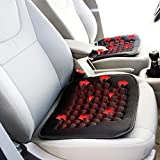 Zone Tech Heated Car Seat Cushion -2-Pack Black 12V Heating Warmer Pad Hot Cover Perfect for Cold...