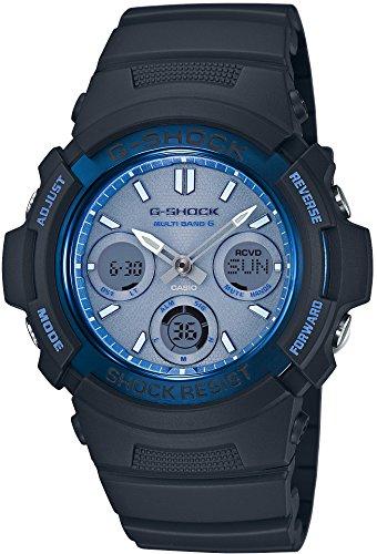 『[カシオ] 腕時計 ジーショック FIRE PACKAGE '16 世界6局対応電波ソーラー AWG-M100SF-2AJR ブラック』のトップ画像