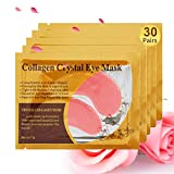Under Eye Patches, 30 Pairs Pink Eye Mask, Eye Gel Pads With Collagen, Eyes Treatment for Reducing Dark Circles, Lighten Wrinkles Anti-Aging Moisturizing, Fine Lines Eye Bags Puffiness for Women Men