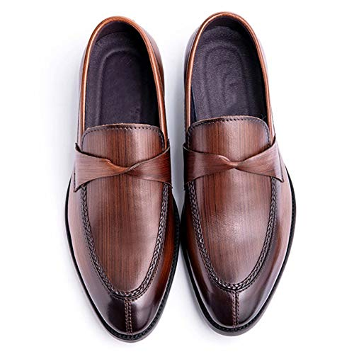 Mocasines Casuales para Hombre Zapatos de conducción sin Cordones - Cuero Zapatos Casuales para Caminar cómodos para el Trabajo, la elección Caballero en Primavera y Verano