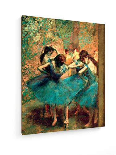 weewado Edgar Degas - Bailarinas Azules - 40x50 cm - Impresión en Lienzo Textil - Muro de Arte - Old Masters/Museum
