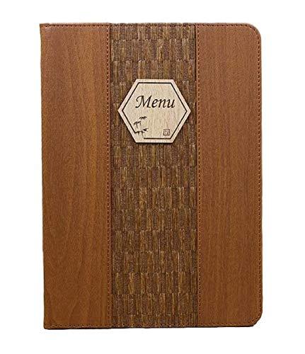 全4種 A4 木目 調 メニューブック ファイル 中閉じ スタンダード レシピ バインダー (パターンA)