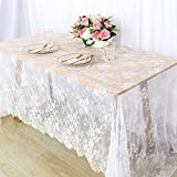 Lace Tablecloth Rectangle 60x120 White Lace...