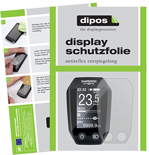 dipos I 3X Schutzfolie matt kompatibel mit Shimano Steps LCD SC-E6010 Folie Bildschirmschutzfolie