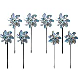 Bird Blinder Repellent PinWheels – Sparkly Holographic Pin Wheel Spinners Scare Off Birds and...