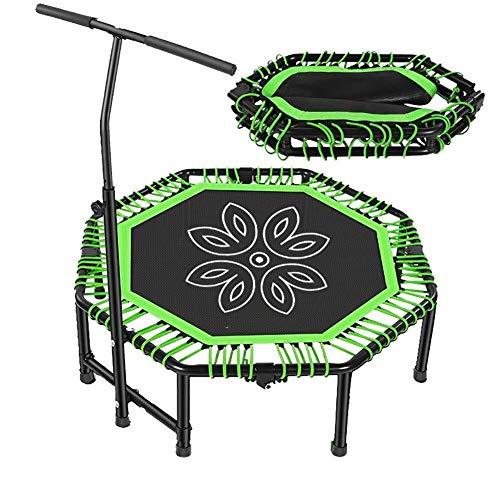Xiao Jian- Indoor Trampolines 48in Leisure Trampoline, Vouwen Volwassen kinderen Indoor Outdoor Fitness rebounder met Verstelbare Handvat Bar, Ondersteunt Tot 880 Ponden