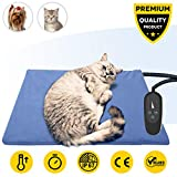 Pet Heating Pad,Dog Electric Heating Pad,19.7''x15.8'' Waterproof Heating Pad for Cats,Heated Mat Bed Safety Heating Indoor Adjustable Warming Mat for Pets with 6.9Ft Length Chew Resistant Steel Cord