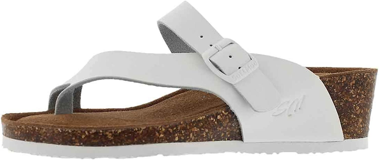 SoftMoc Women's Andrea 5 Footbed Toe Thong Wedge Sandal