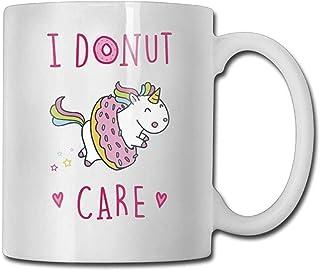 Je Donut Care Mugs à café 11 oz nouveauté cadeau tasse de thé en céramique tasse cadeau parfait pour la famille et l'ami