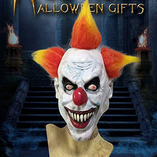FWQAZ Kostuum Masker Cosplay Halloween Enge Latex Realistische Prop Party Gezicht Masker clown masker
