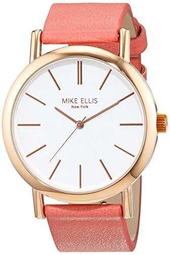 Mike Ellis New York Damen-Armbanduhr Sammi Analog Quarz Kunstleder SL2979B6