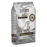 プラチナム ナチュラル ドッグフード : イベリコ+グリーン 無水調理ドライフード ( グレインフリー、グルテンフリー) 成犬(一歳以上)用 (5kg)