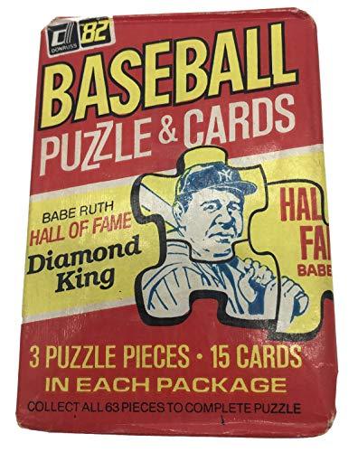 1982 Donruss Baseball Un-opened Pack of 15 Cards. Look for the Cal Ripken Jr. Rookie Card.