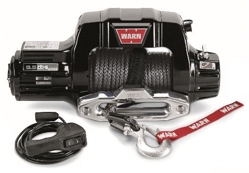 """WARN 97600 9.5cti-s Electric 12V Winch with Synthetic Cable Rope: 3/8"""" Diameter x 100' Length, 4.75 Ton (9,500 lb)..."""