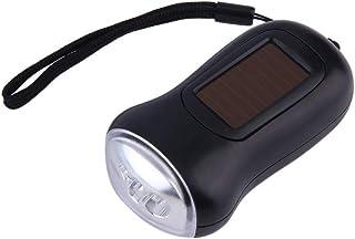 Uzinb Mini Portable de la Mano del dínamo 3 LED Solar Powered Linterna hogar Acampar al Aire Libre de la antorcha de Emergencia