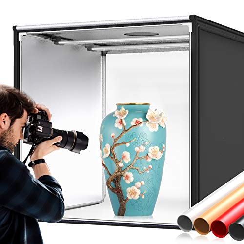 Photo Box, SAMTIAN Photo Light Box 32x32x32 Inches 126 LED...