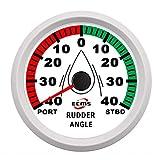 JIAHONG Panel de instrumentos Garantizada Indicador de ángulo del timón Indicador 0-190ohm con emparejar sensor con luz de fondo 85 mm 3-3 / 8 pulgadas 12V / 24V for el coche del carro del barco Auto