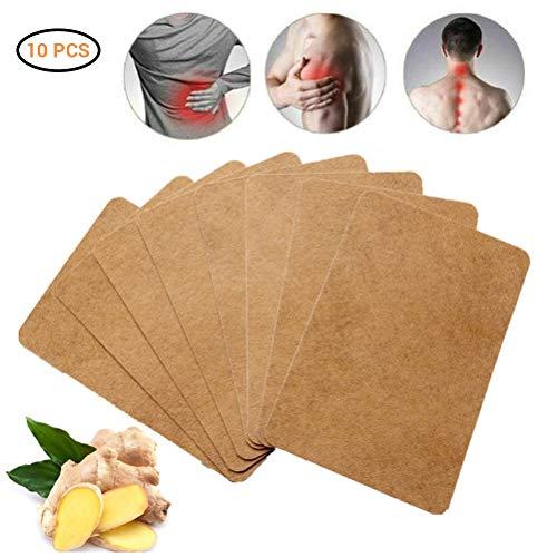 Twakom Wärmepflaste, Ingwer wärmende Aufkleber, für Rücken, Nacken, Bauch, Wärmekissen Nackepads, für Massage & Entspannung Selbstklebend Set