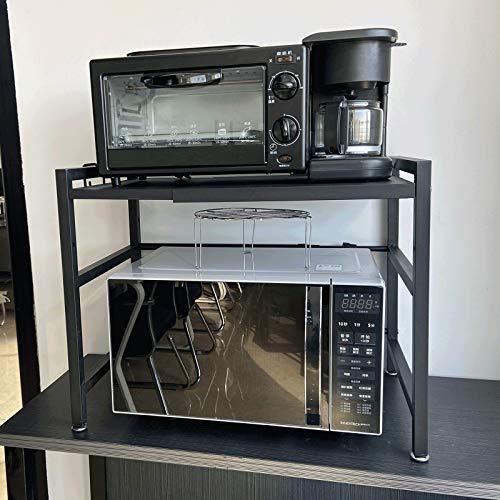 Estante para Horno de Acero al Carbono, Mueble microondas, Estante de Especias de Cocina, Microondas Multiuso Estantes Especia, Rejilla de Cocina Estufa de Piso Rejilla de
