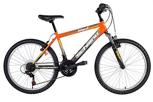 F.lli Schiano Integral Shimano 18V Fork Suspension Bicicletta, Arancione/Nero,