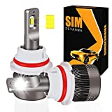 Simdevanma H11/H8/H9 LED Headlight Bulbs Cool White 6000LM 6500K 60W LED Conversion Kits Haloge…