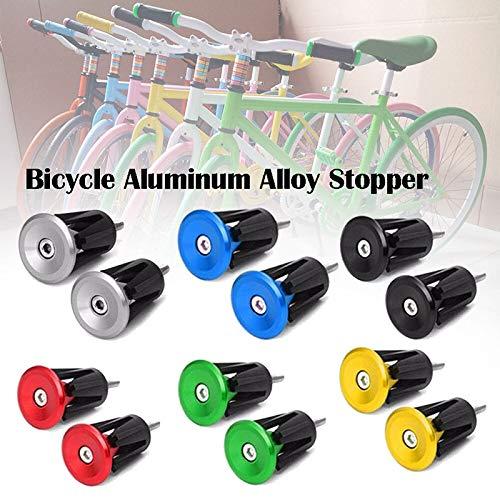 Fahrradgriffe Stecker Lenkerstopfen Endstopfen - Aluminium, Farbe Auswählbar