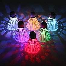 مصابيح LED Badminton Shuttlecock Dark Night Glow Birdies (6 حزم)