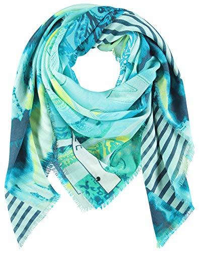 Taifun Damen Tuch Mit Mustermix Turquoise gemustert 99