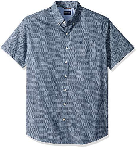 Dockers Men's Big and Tall Short-Sleeve Button Down Comfort Flex Shirt, Searcy ocean, L-T