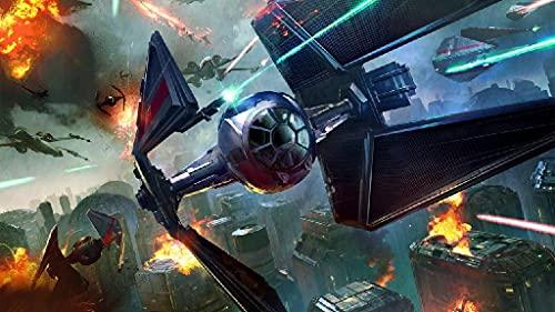 WMYZSHDWZ Star Wars Battleship Aircraft Fight Pintura por Números para Adultos y niños Pintar DIY al óleo de Bricolaje Pinceles 40x50CM Principiantes Hogar Lienzo Decoraciones Colores Acrílica
