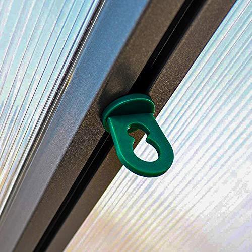 30x Gewächshausclips - Pflanzenhalter Aufhängevorrichtungen für Gewächshaus, Perfekte Ösen Rankhilfe Clips für ihr Paradies