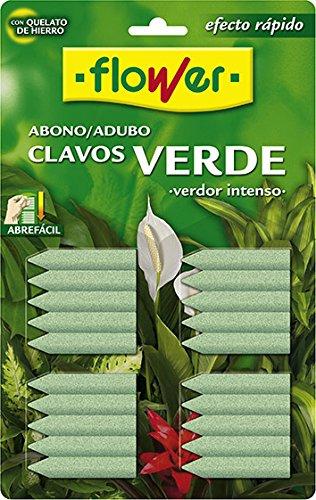 Flower ABONO Clavos Verde (20UD) Blister, Único