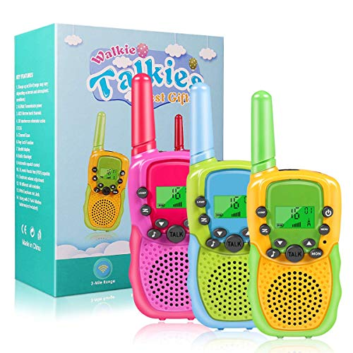 %11 OFF! Walkie Talkies for Kids, 22 Channels 2 Way Radio Toy for 3-12 Year Old Boys Girls, 3 Miles ...
